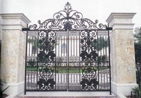 Custom Wrought Iron Gates Exterior Residential Doors Borano